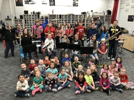 Preschoolers Visit The Band Room