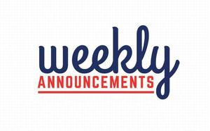 Weekly Announcements 9/21/20