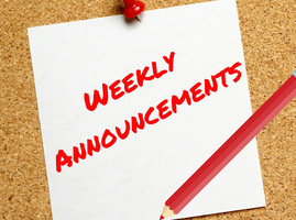 Weekly Announcements 1/18/21