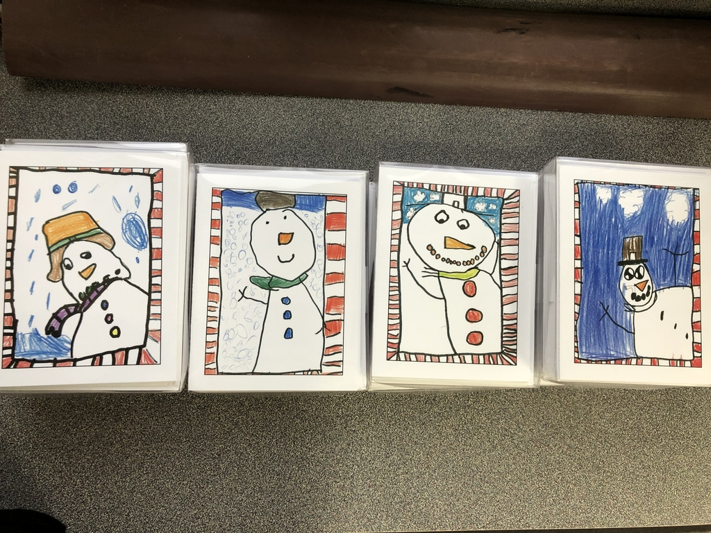 Holiday snowmen from first grade.