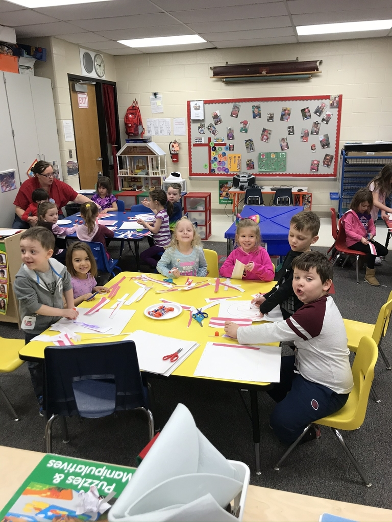 Celebrating Dr. Suess by making Cat In The Hat hats
