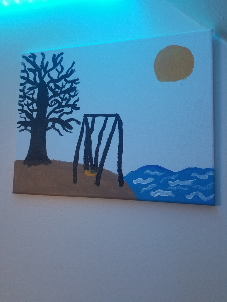 Chloe's swing painting