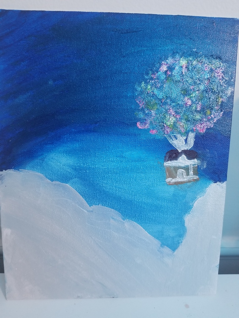 Chloe's blue sky painting