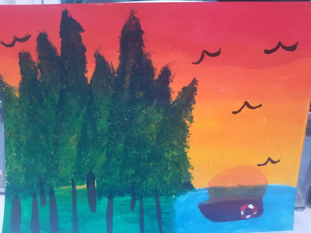 Chloe's sunset painting