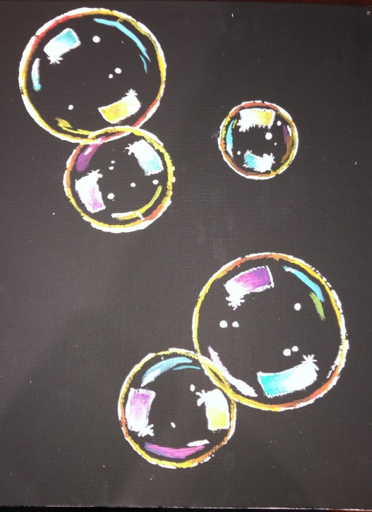 Jenna's Bubble Painting