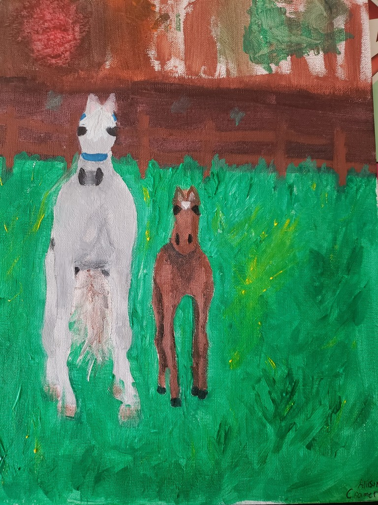 Allison's baby horse painting
