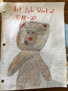 Zyla Hazzard's bear drawing