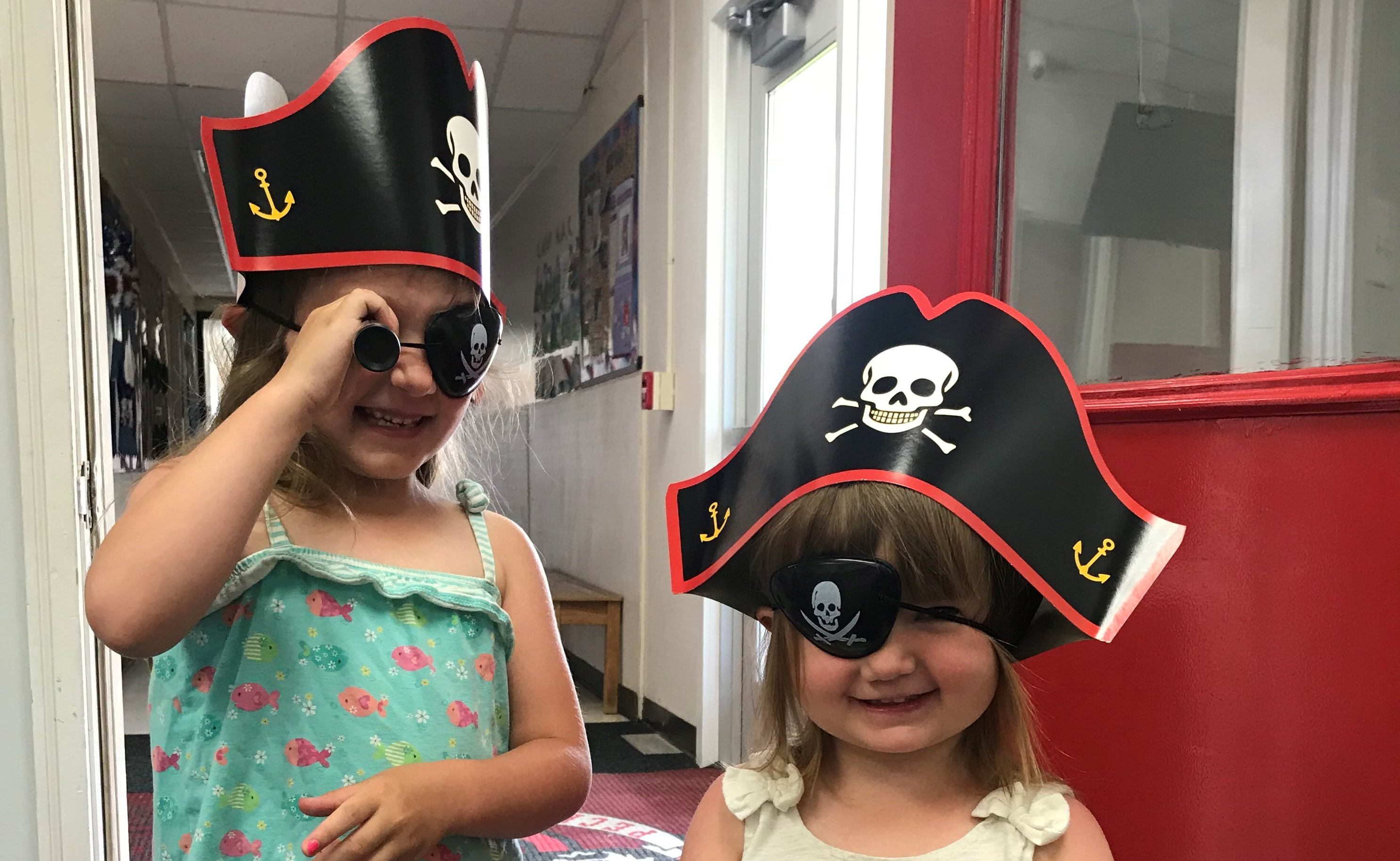Young Girls with Pirate Stuff